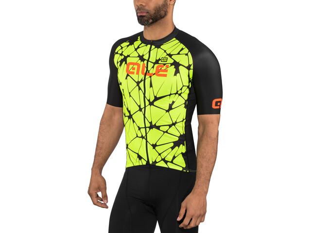 Alé Cycling Cracle Kurzarm Trikot Herren fluo yellow-black-fluo orange